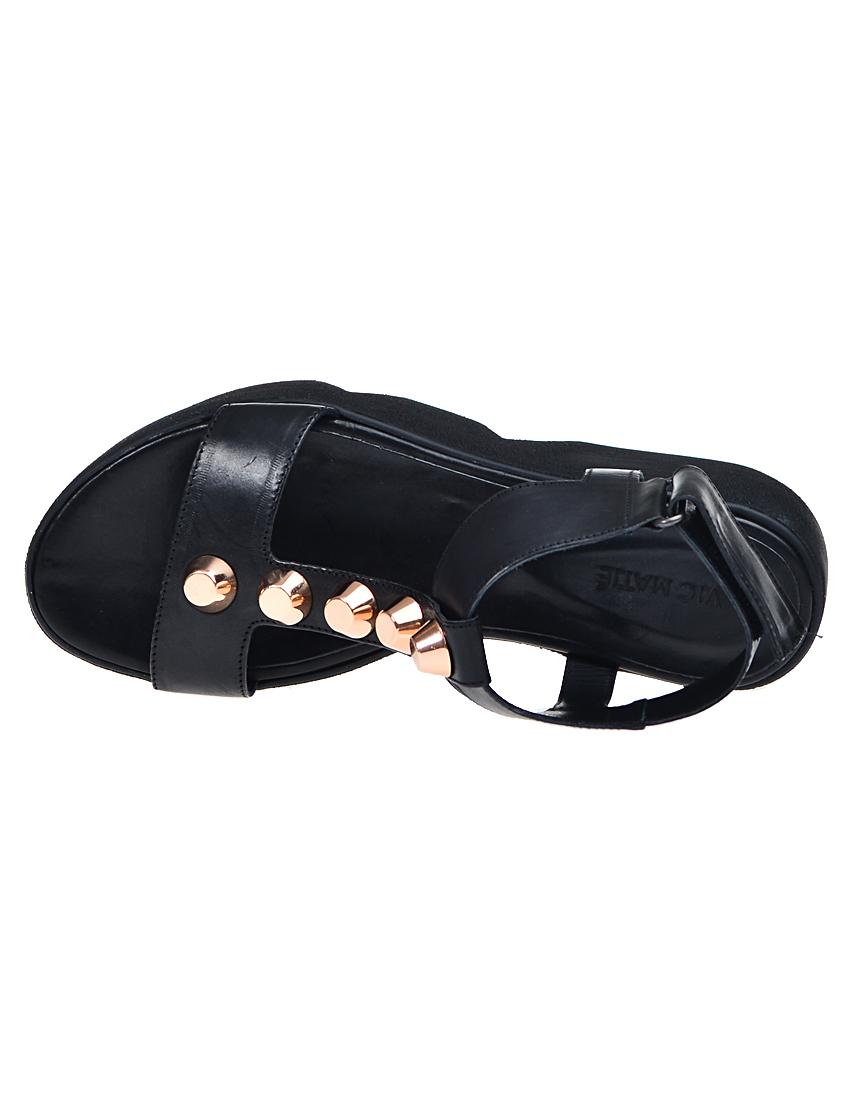Фото 5 - женские сандали  черного цвета