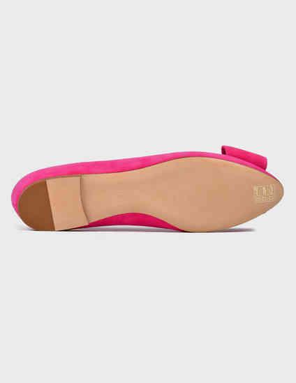 женские розовые замшевые Балетки Casadei 178-pink - фото-5