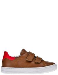 Детские кроссовки для мальчиков Naturino Lenny-cognac-rosso-brown