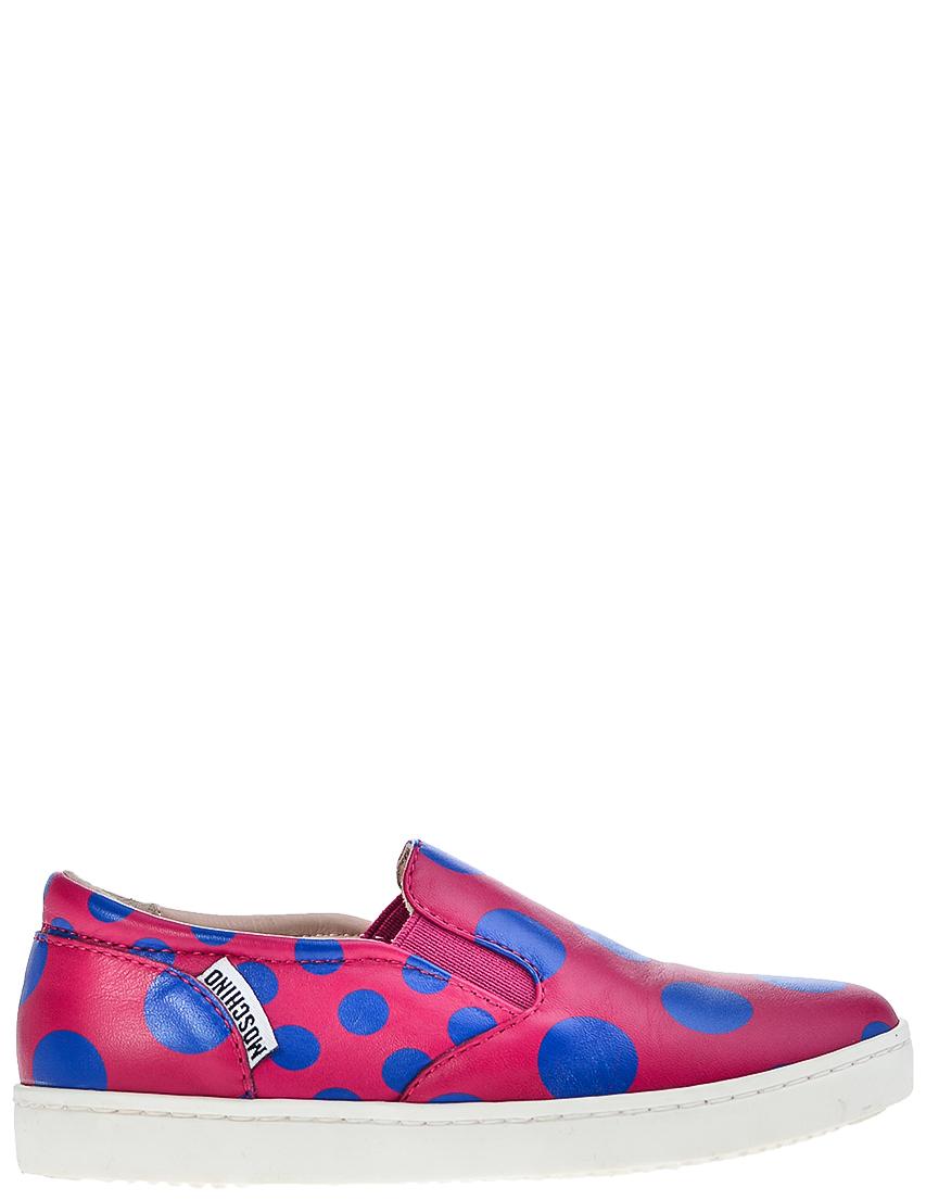 Детские мокасины для девочек Moschino 25707-fuxia-pois-bluette_pink