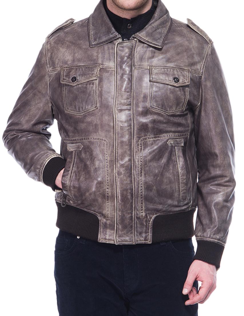 Купить Куртка, BUGATTI, Коричневый, 100%Кожа, Осень-Зима