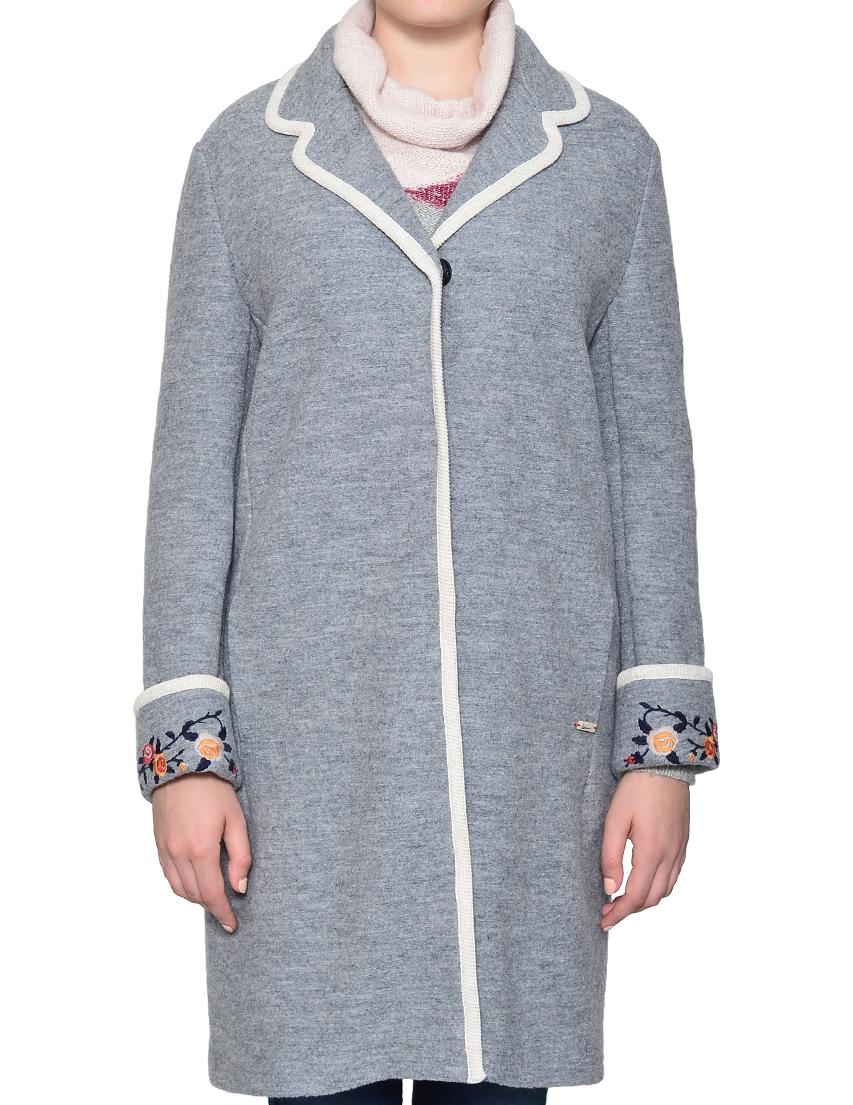 Пальто, LUIS TRENKER, Серый, 100%Шерсть, Осень-Зима  - купить со скидкой
