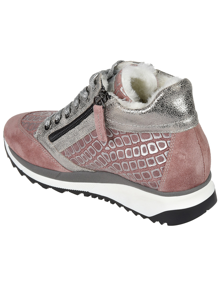 Кожаные розовые кроссовки TINE'S (ITALY)
