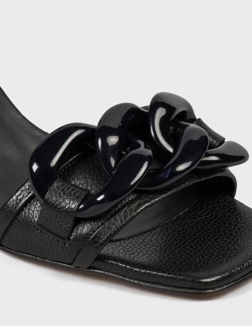женские черные кожаные Босоножки Pertini 211W30918D2 - фото-5