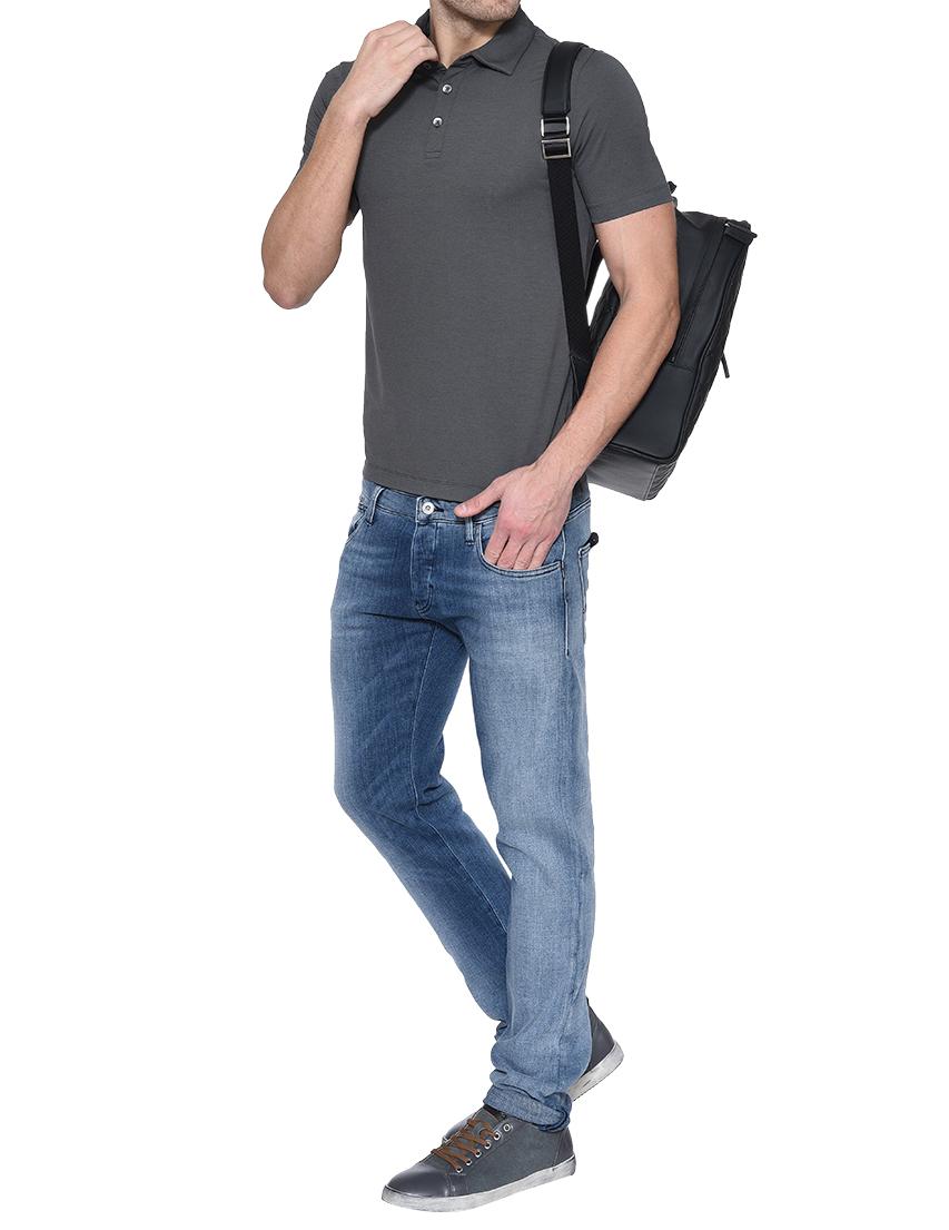 Фото 5 - мужские джинсы  голубого цвета