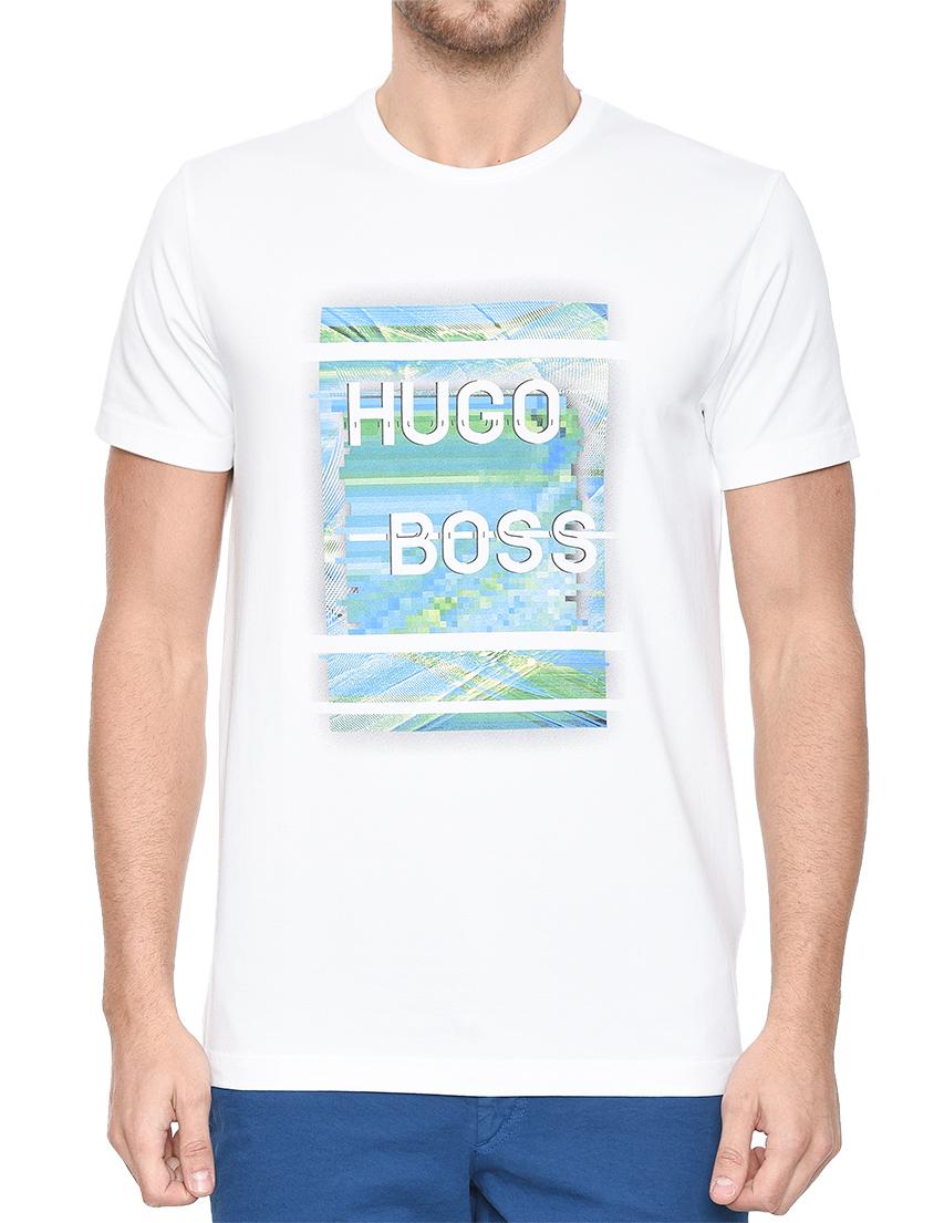 Купить Футболка, HUGO BOSS, Белый, 95%Хлопок 5%Эластан, Весна-Лето