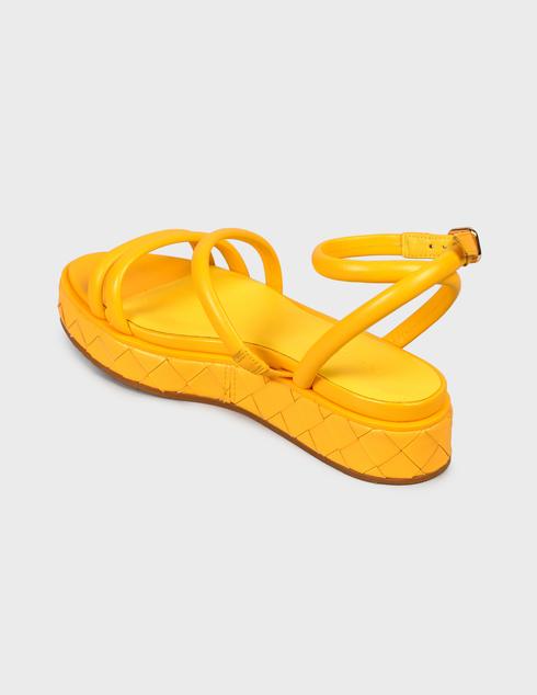 женские желтые Босоножки What For SS21WF143 - фото-2