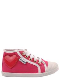 Детские кеды для девочек MOSCHINO 25315-rose