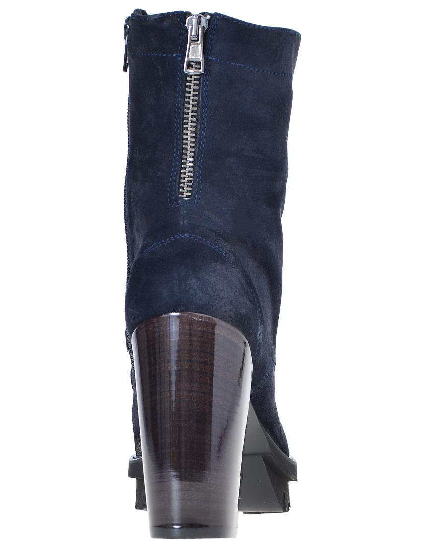 Фото 2 - женские ботинки и полуботинки  синего цвета
