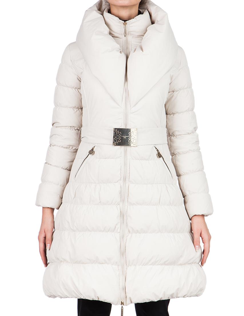 Купить Куртка, ELISABETTA FRANCHI, Бежевый, 100%Полиамид;80%Пух 20%Шерсть, Осень-Зима