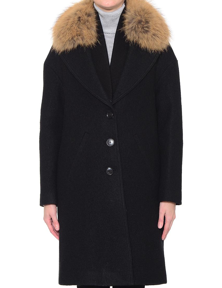Купить Пальто, SOIA & KYO, Черный, 100%Шерсть;100%Полиэстер, Осень-Зима