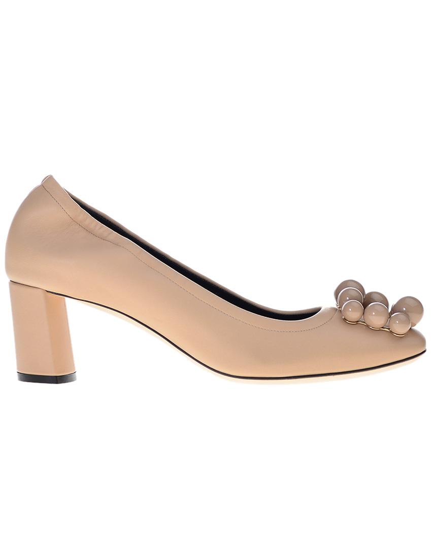 Фото 6 - женские туфли  бежевого цвета