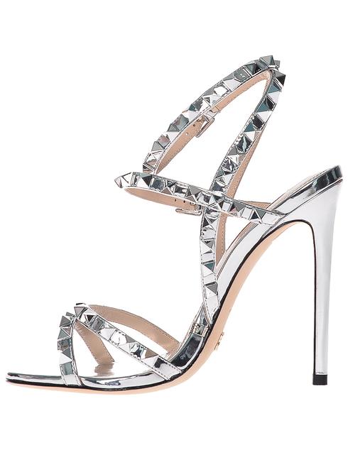 женские серебряные Босоножки Gianni Renzi 1398_silver - фото-2