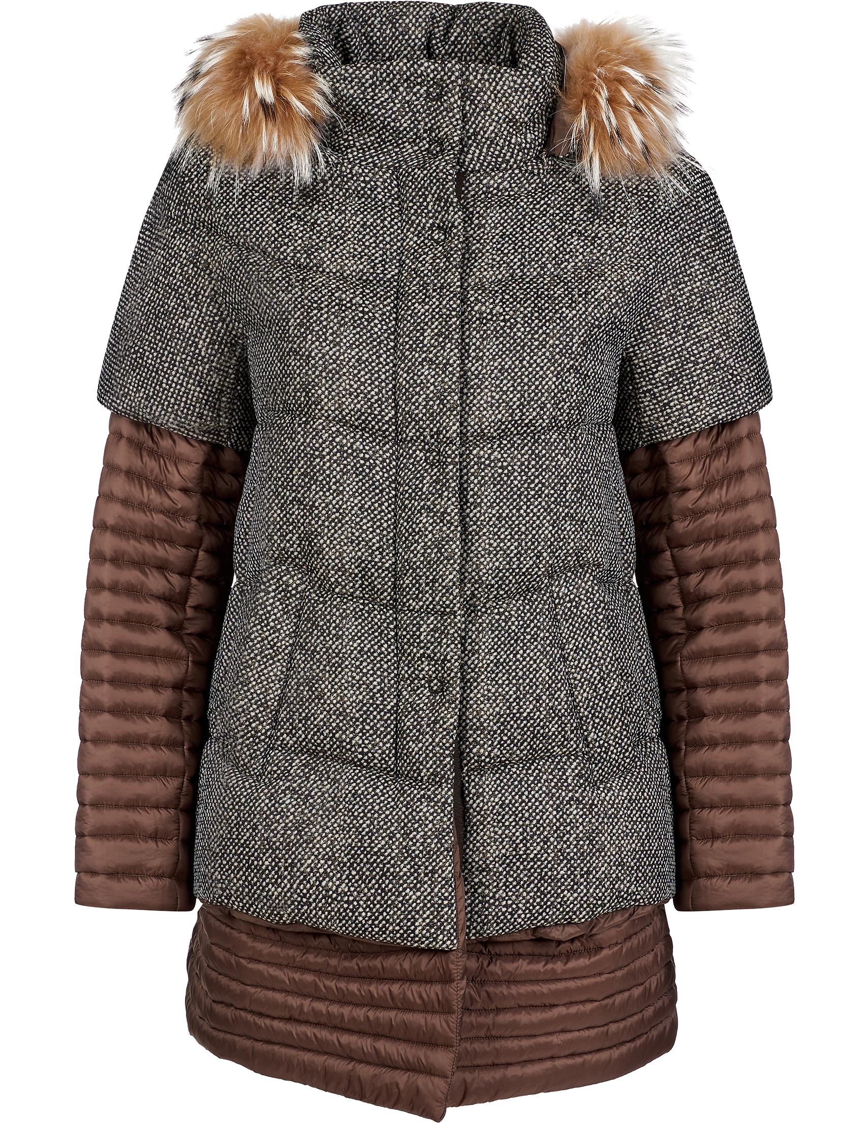 Купить Куртки, Куртка, GALLOTTI, Коричневый, 100%Полиамид;100%Полиэстер;100%Мех, Осень-Зима