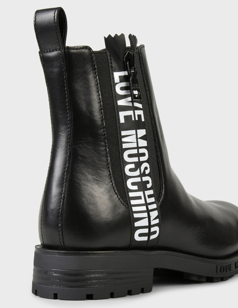 женские черные кожаные Ботинки Love Moschino AGR-JA21094G0DIA0000 - фото-5