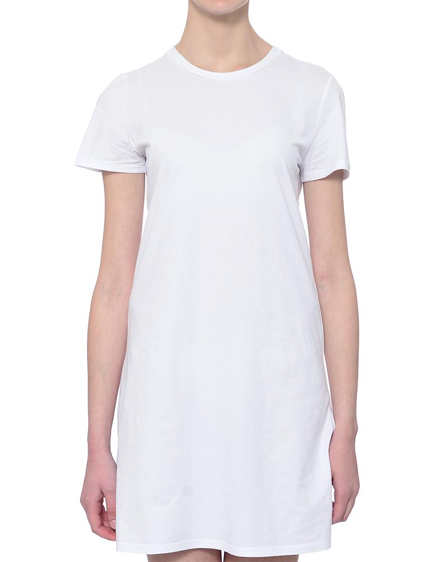 Купить Платье, TWIN-SET, Белый, 100%Хлопок, Весна-Лето
