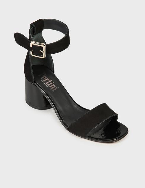 женские черные Босоножки Pertini 211W30801D3-V47 - фото-2