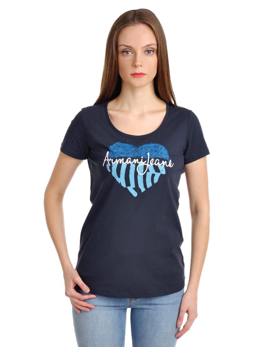 Женская футболка armani jeans 44845 фото 1