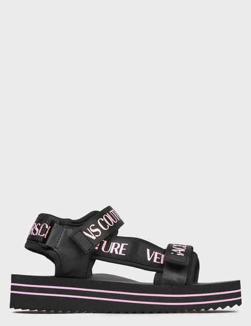 женские черные Сандалии Versace Jeans Couture E0VWASX171937899 - фото-7
