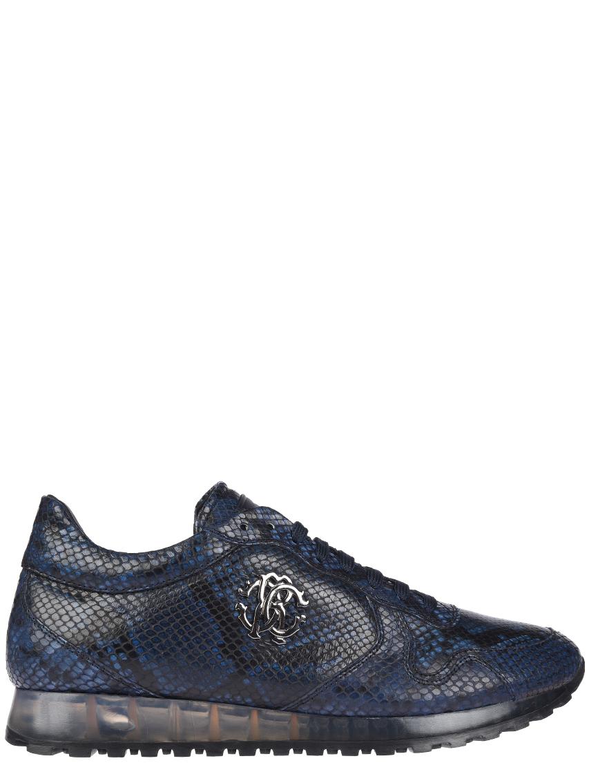 Мужские кроссовки Roberto Cavalli 5271blue_blue