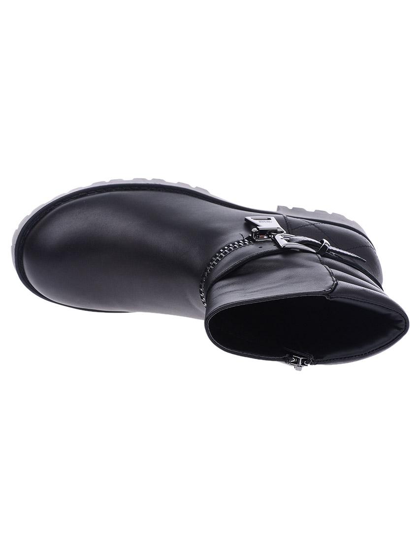 Фото 7 - женские ботинки и полуботинки  черного цвета
