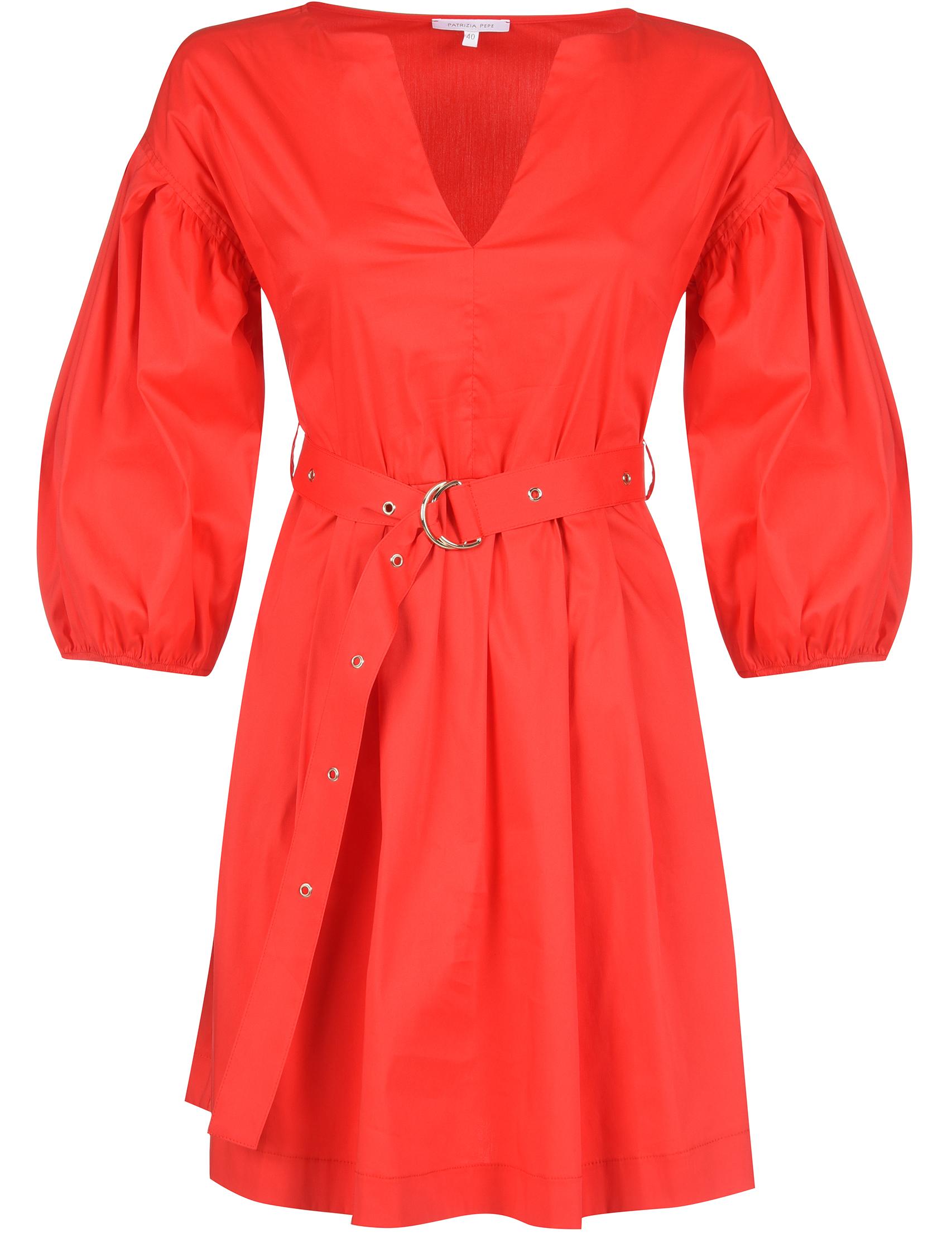 Купить Платье, PATRIZIA PEPE, Красный, 46%Хлопок 4%Эластан 50%Полиамид, Весна-Лето