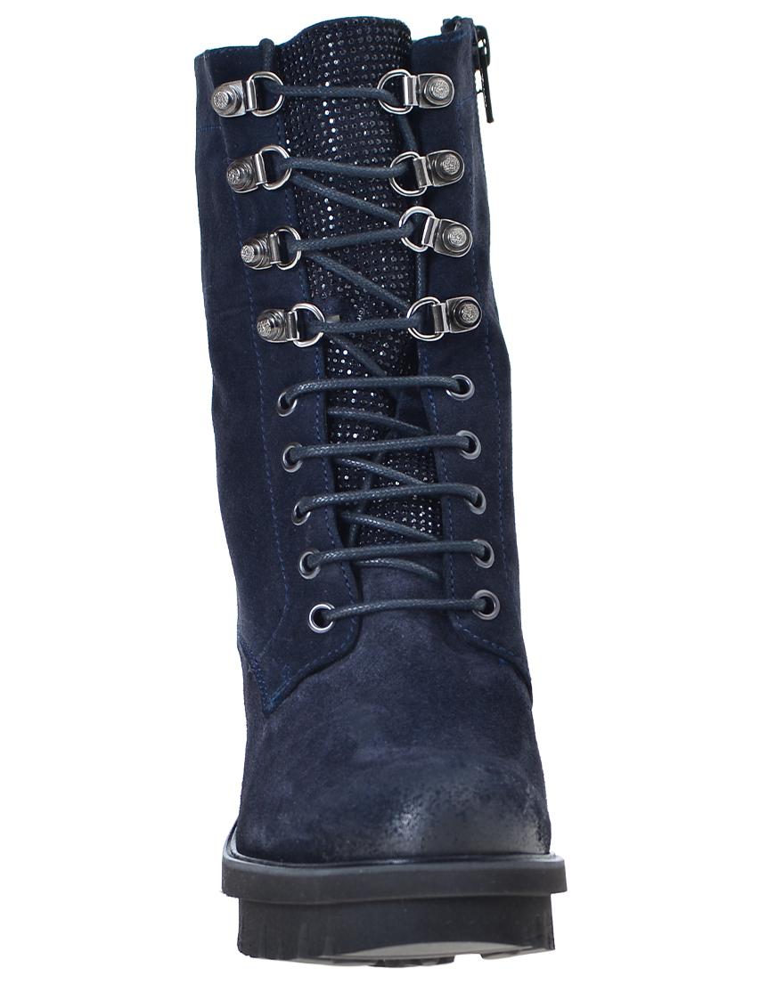 Фото 4 - женские ботинки и полуботинки  синего цвета