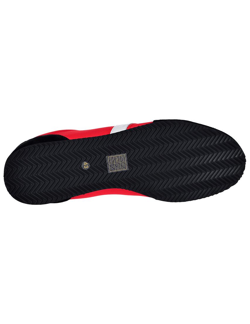Фото 6 - мужские кроссовки  красного цвета