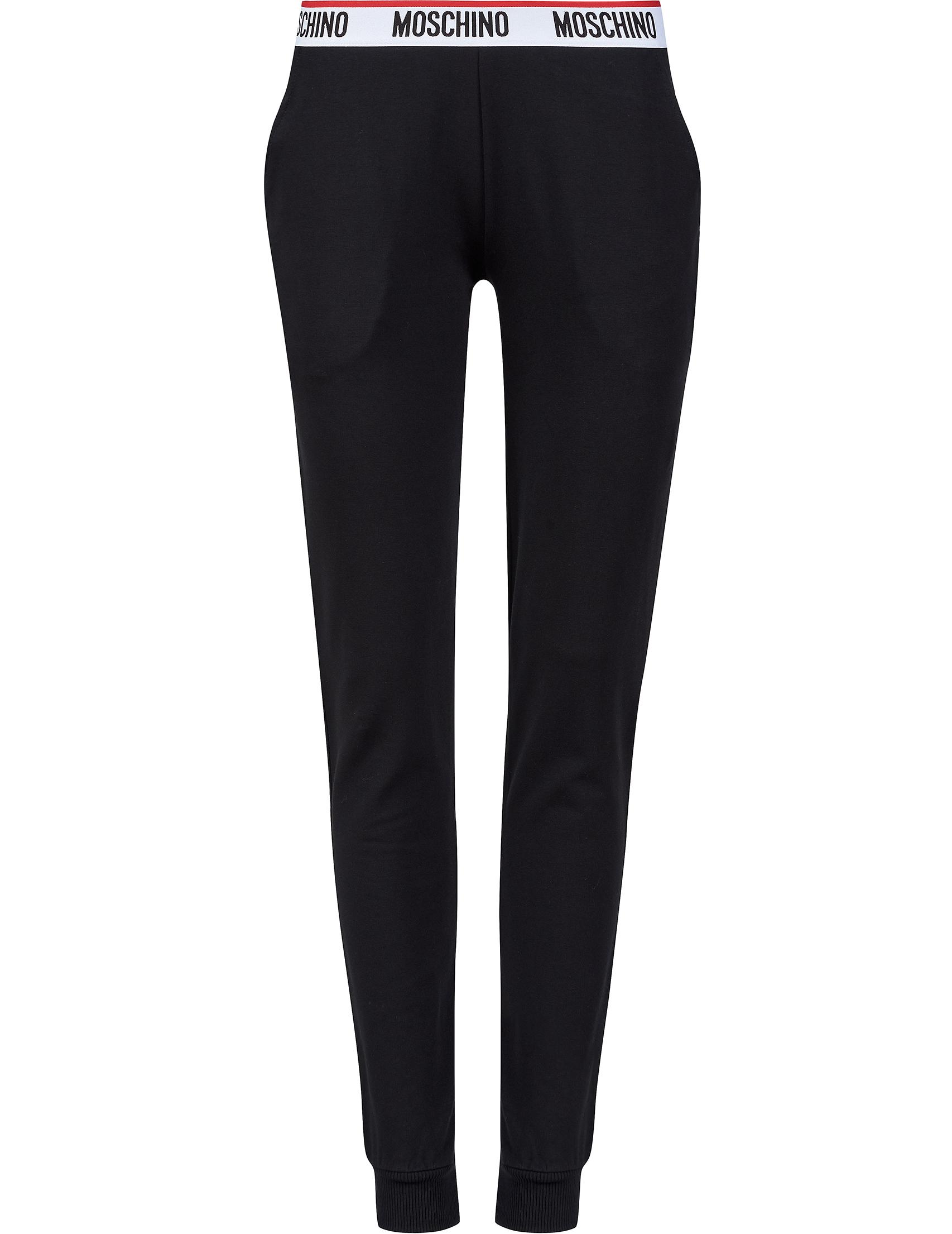 Купить Спортивные брюки, MOSCHINO, Черный, 95%Хлопок 5%Эластан, Весна-Лето