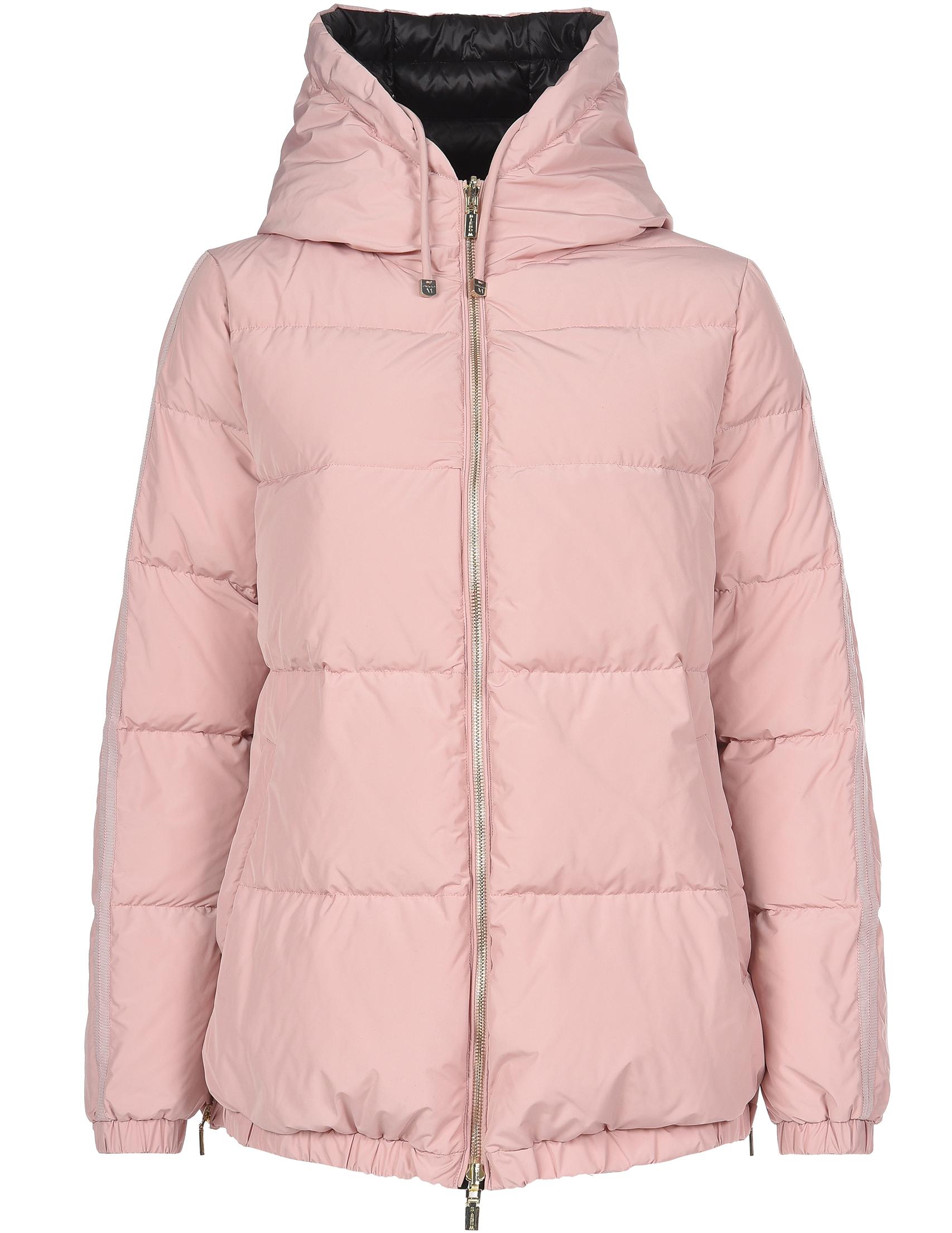 Купить Пуховик, DIEGO M, Розовый, Черный, 100%Полиэстер;90%Пух 10%Перо, Осень-Зима