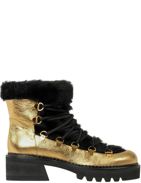 женские золотые кожаные Ботинки Ballin B8W9063-1565AGB - фото-5