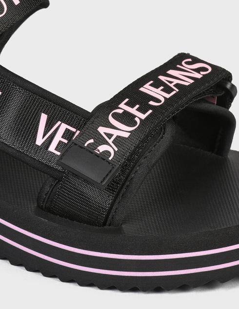 женские черные текстильные Сандалии Versace Jeans Couture E0VWASX171937899 - фото-5