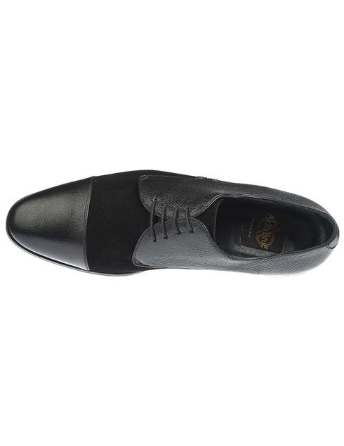 мужские черные кожаные Туфли Aldo Brue AB485BP-CMTU - фото-5