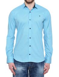 Мужская рубашка TRUSSARDI JEANS 3315_blue
