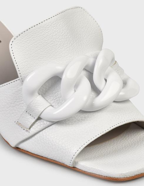 женские белые кожаные Шлепанцы Pertini 201W16636D3 - фото-5