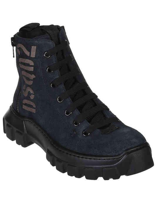 женские серые Ботинки Dsquared2 62440-NB-grafit_gray - фото-2