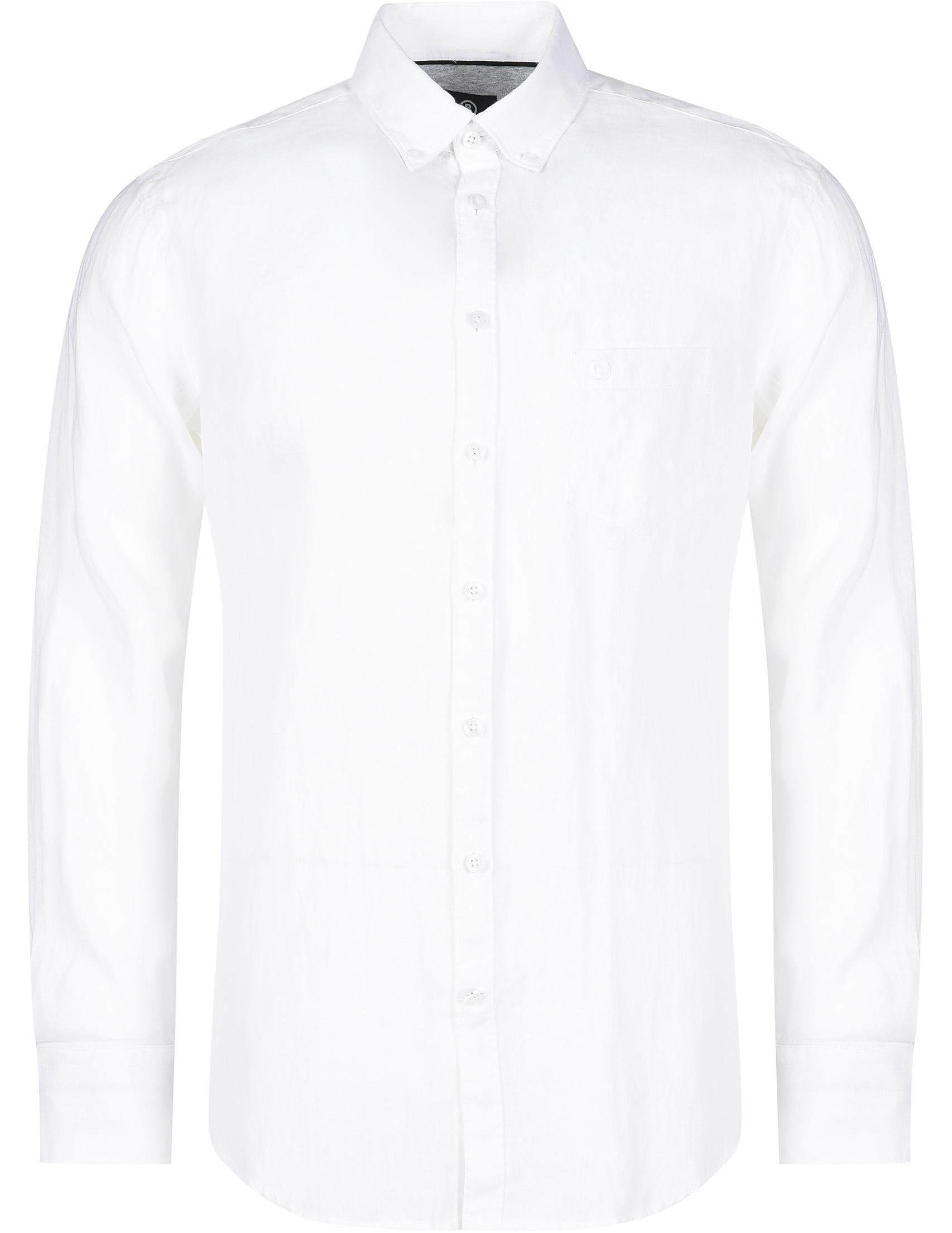 Купить Рубашки, Рубашка, BOGNER, Белый, 100%Лен, Весна-Лето