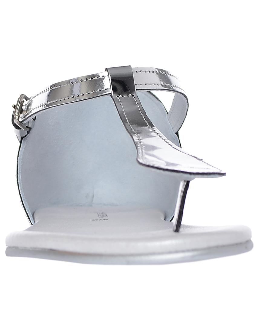 Фото 4 - женские сандали  серебрянного цвета