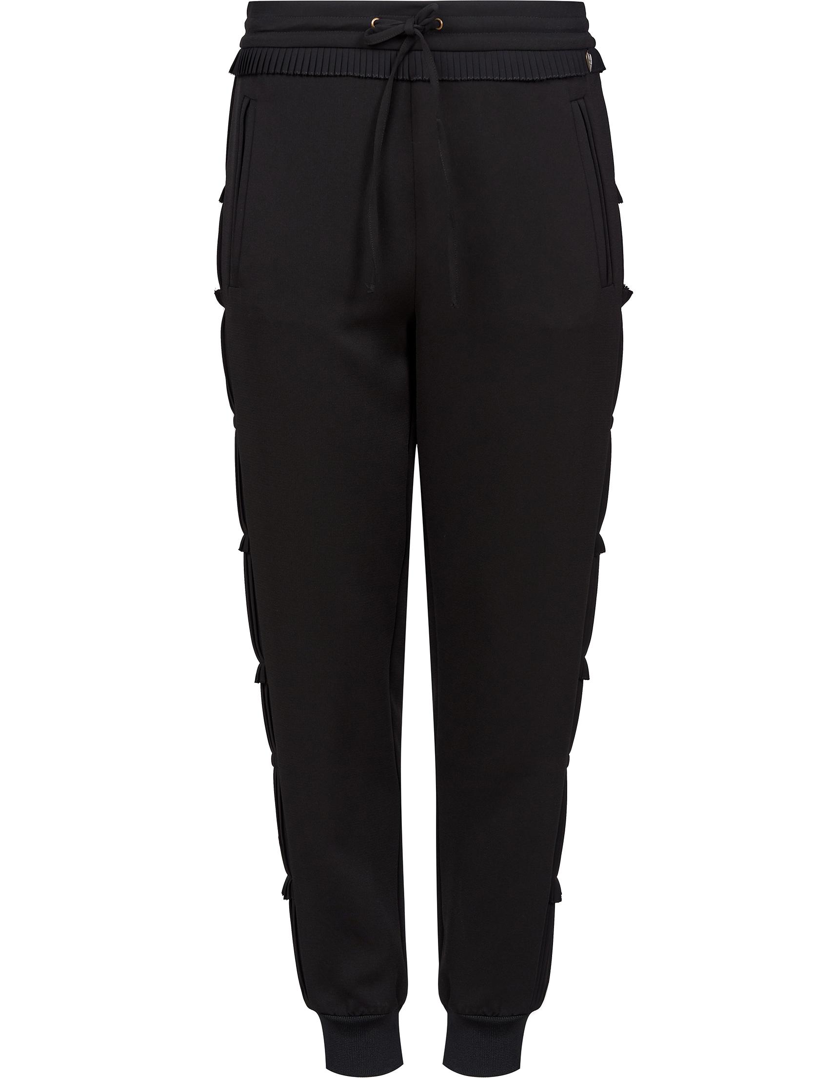 Купить Спортивные брюки, TWIN-SET, Черный, 100%Полиэстер, Весна-Лето