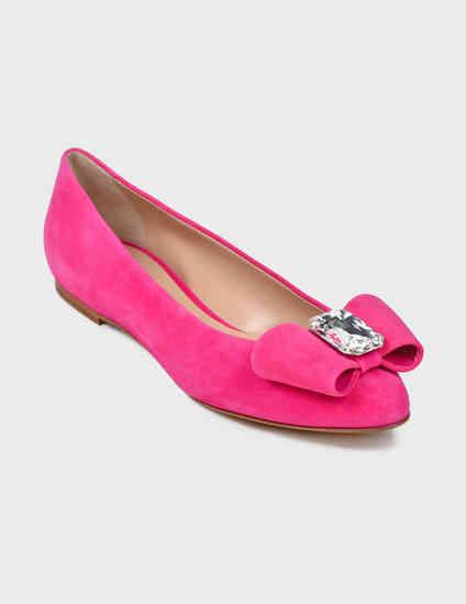женские розовые Балетки Casadei 178-pink - фото-2
