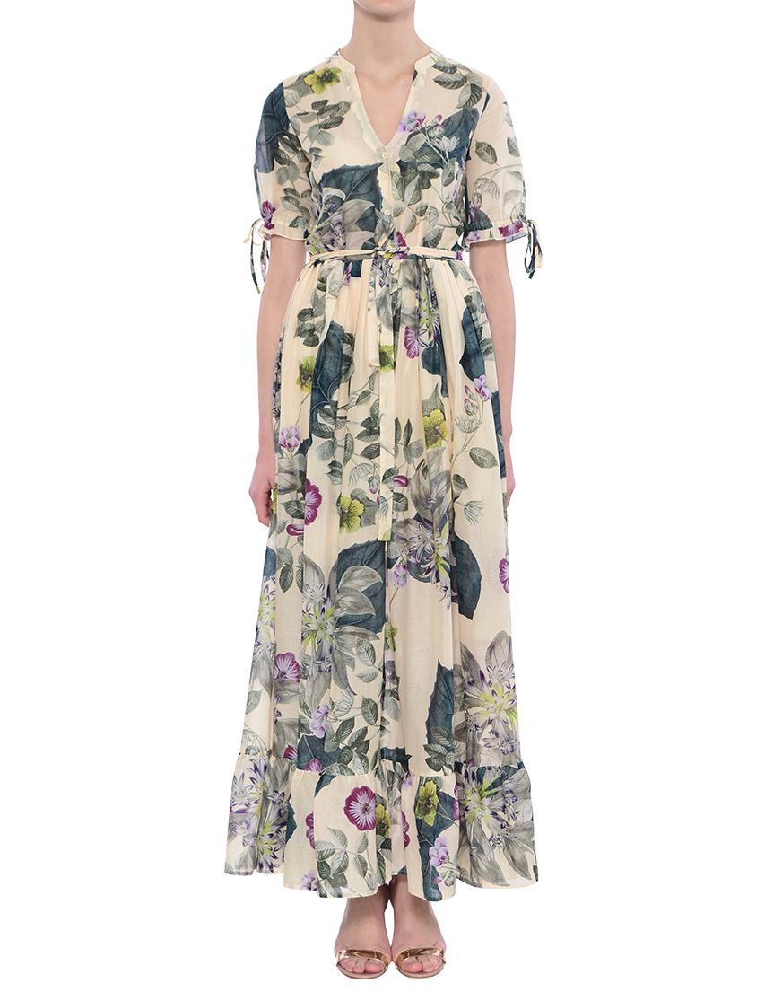 Платье, TWIN-SET, Многоцветный, 100%Хлопок, Весна-Лето  - купить со скидкой