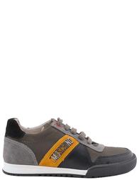 Детские кроссовки для мальчиков MOSCHINO 25400nero-grey