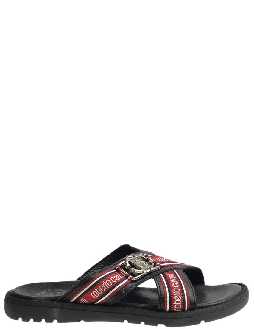 Детские шлепанцы для мальчиков ROBERTO CAVALLI E41631_black