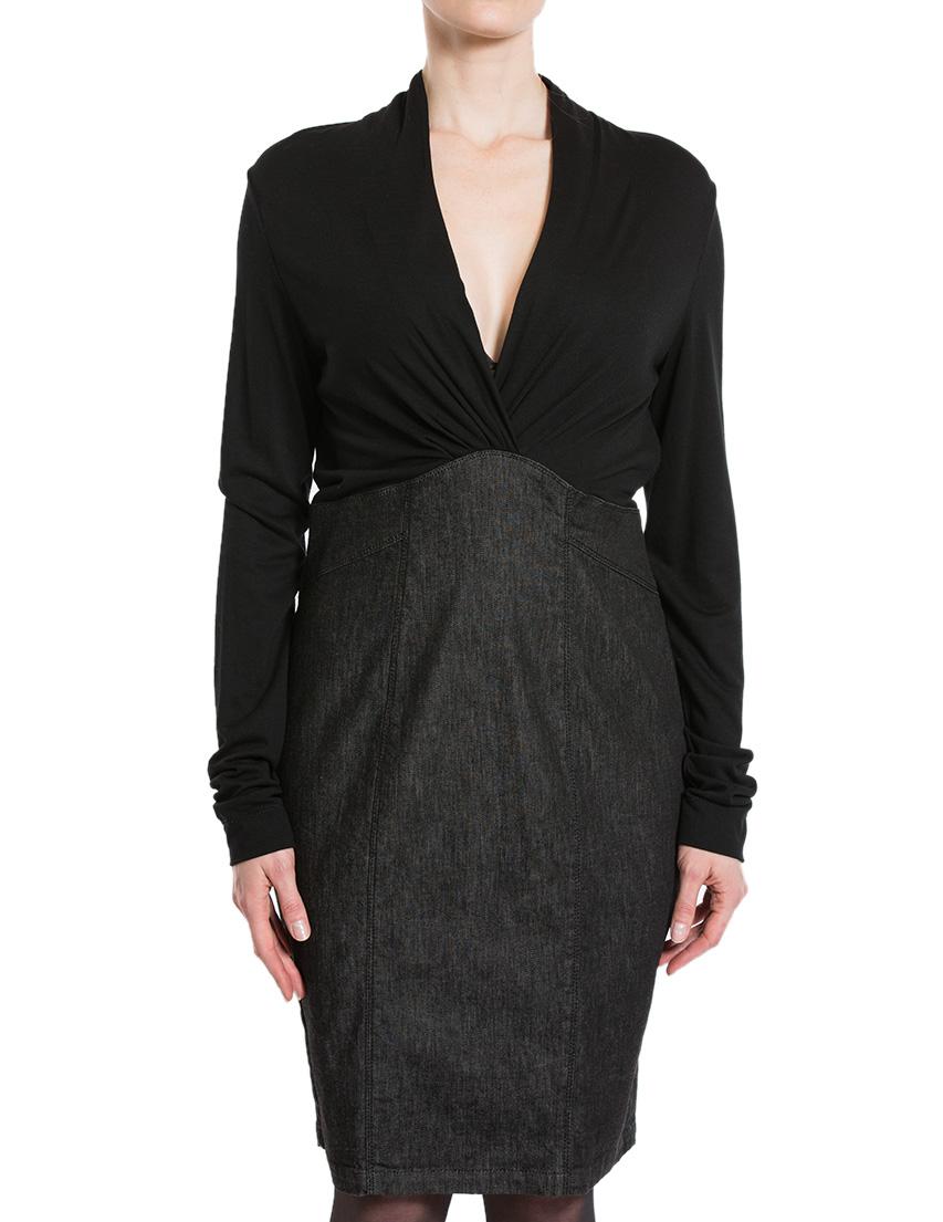Купить Платье, ARMANI JEANS, Черный, 98%Хлопок 2%Эластан, Осень-Зима