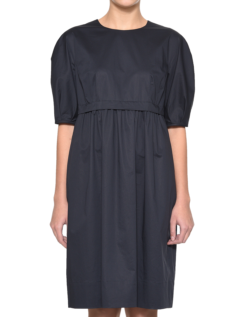 Купить Платье, PESERICO, Синий, 85%Купро 15%Эластан, Весна-Лето
