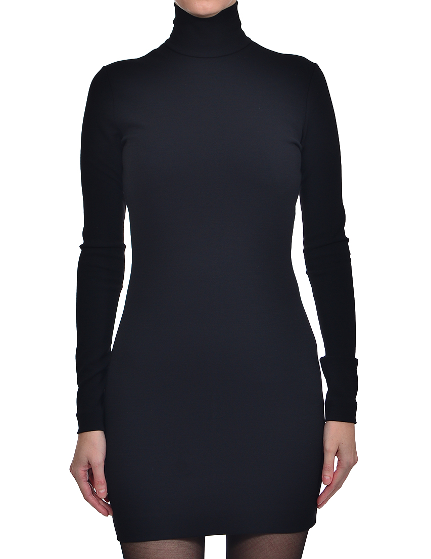 Купить Платье, DSQUARED2, Черный, 69%Шерсть 29%Полиамид 2%Эластан, Осень-Зима