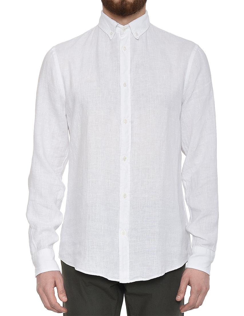 Купить Рубашки, Рубашка, TRUSSARDI JEANS, Белый, 100%Лен, Весна-Лето