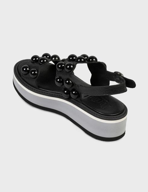женские черные Босоножки Pertini 211W16693D2 - фото-2