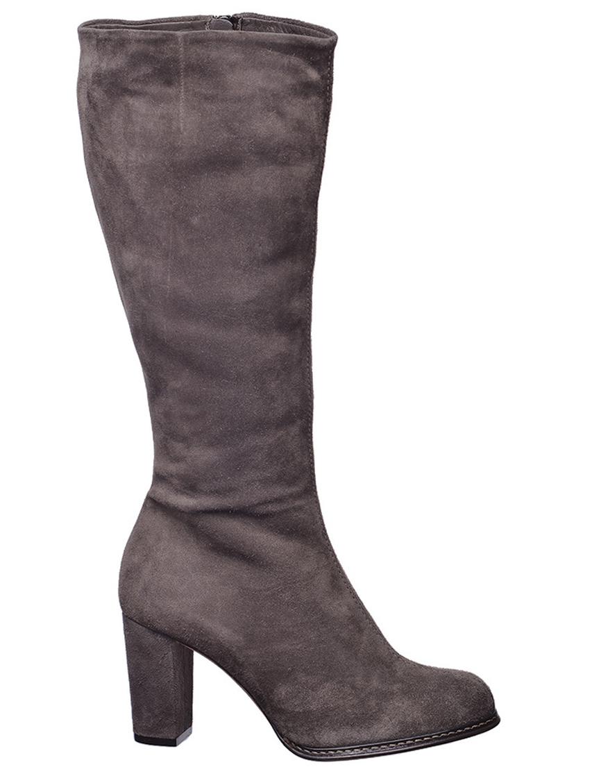 Купить Сапоги на каблуке, BALLIN, Серый, Осень-Зима