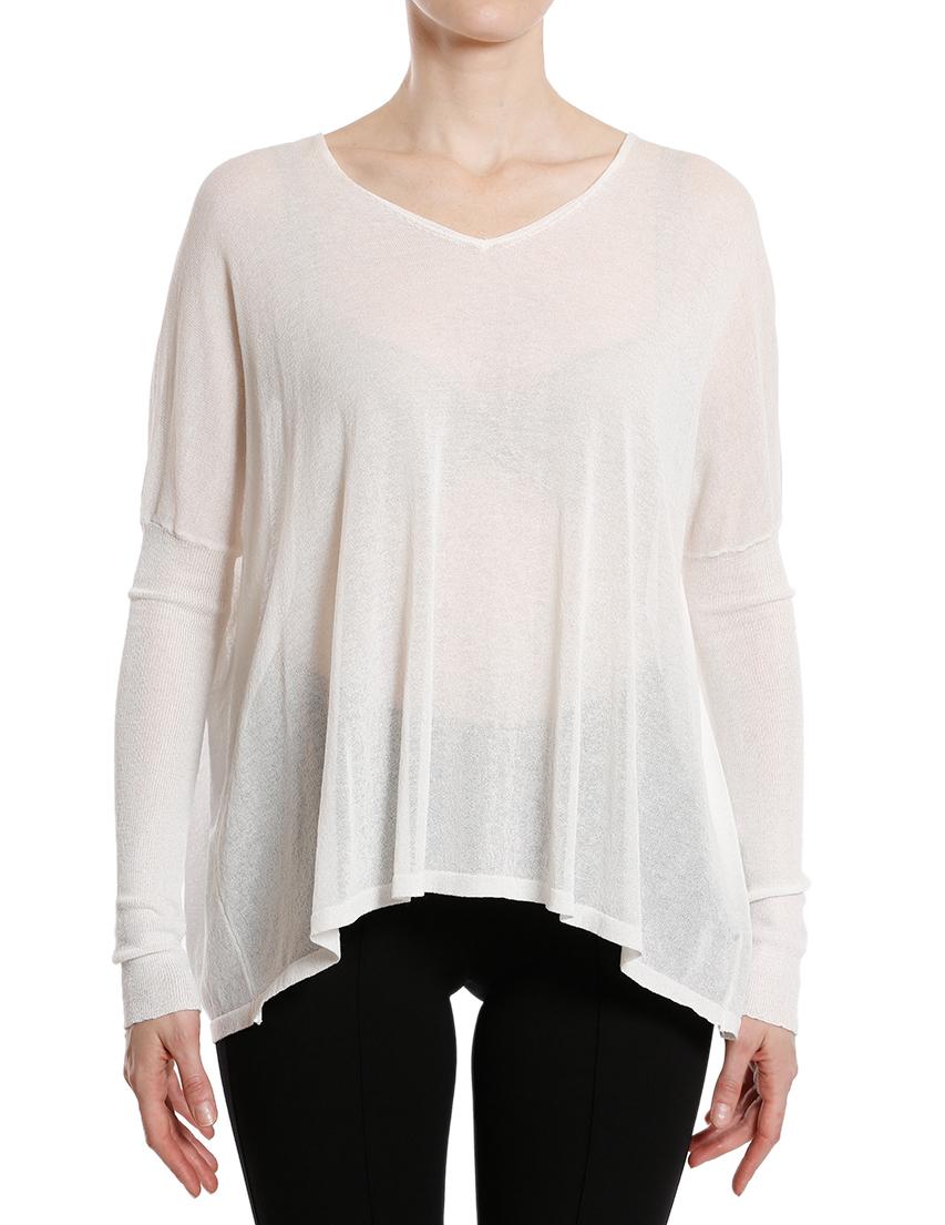 Купить Блуза, HOTEL PARTICULIER, Белый, 84%Вискоза 16%Полиамид, Осень-Зима